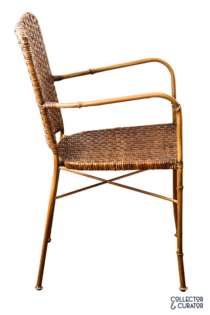Faux Bamboo Set of Four Iron Chairs - Collector & Curator