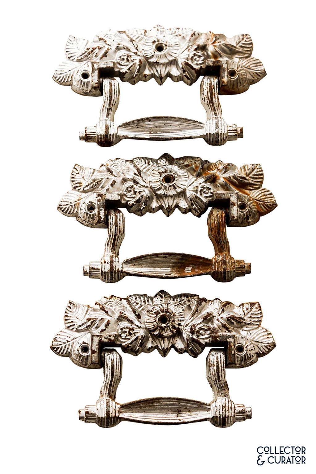 Antique metal drawer pulls- Collector & Curator