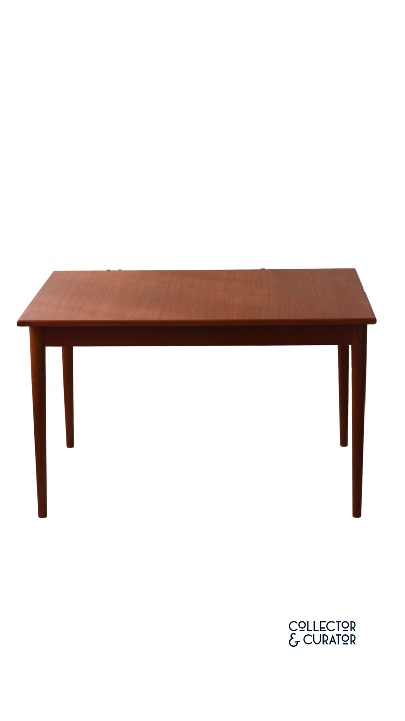 mid century modern teak extendable dining table