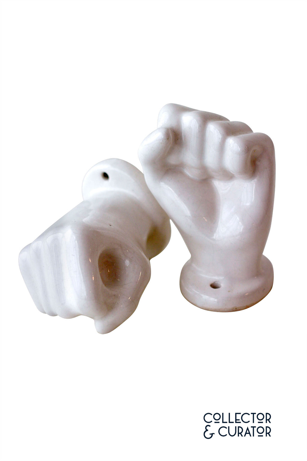 Pair of Ceramic Hands - Collector & Curator