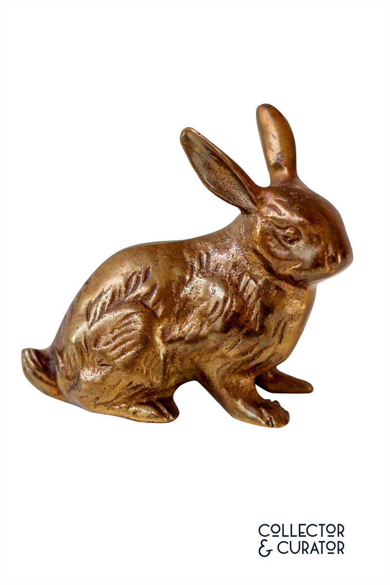 Brass Rabbit Decorative Object - Collector & Curator