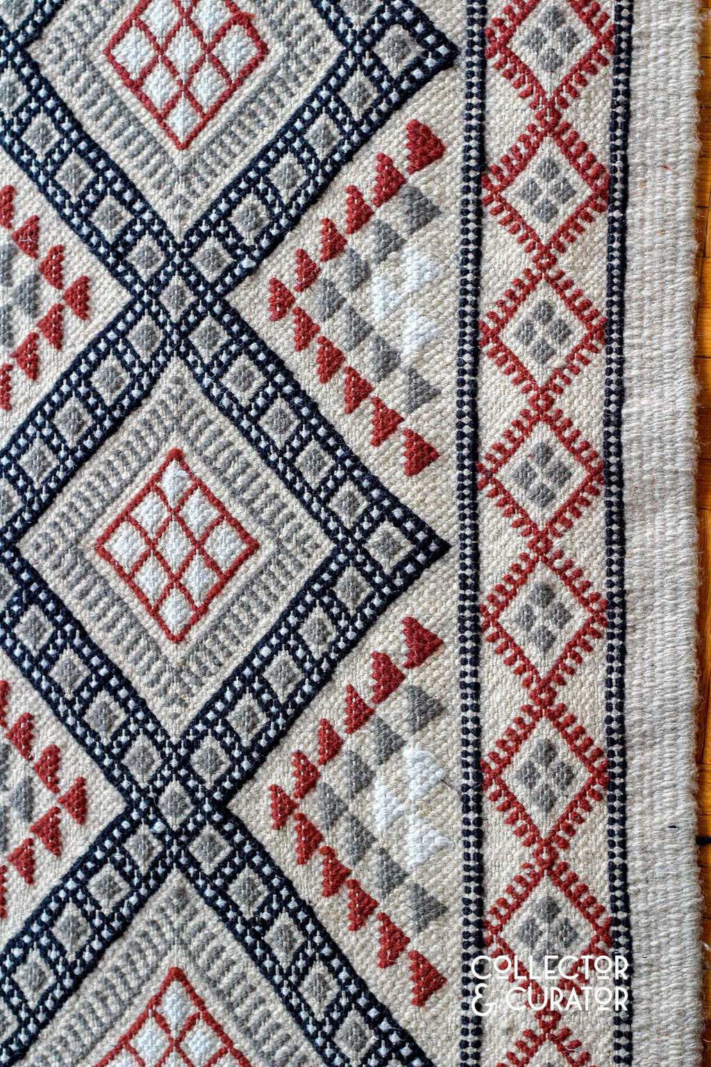 Runner Hand Made in Tunisia Rug Carpet - Collector & Curator