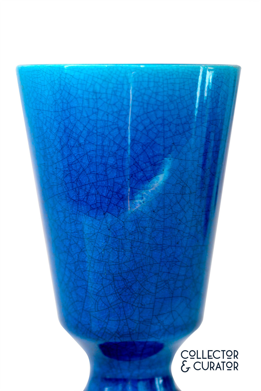 Turquoise Crackle Glaze Vase - Collector & Curator