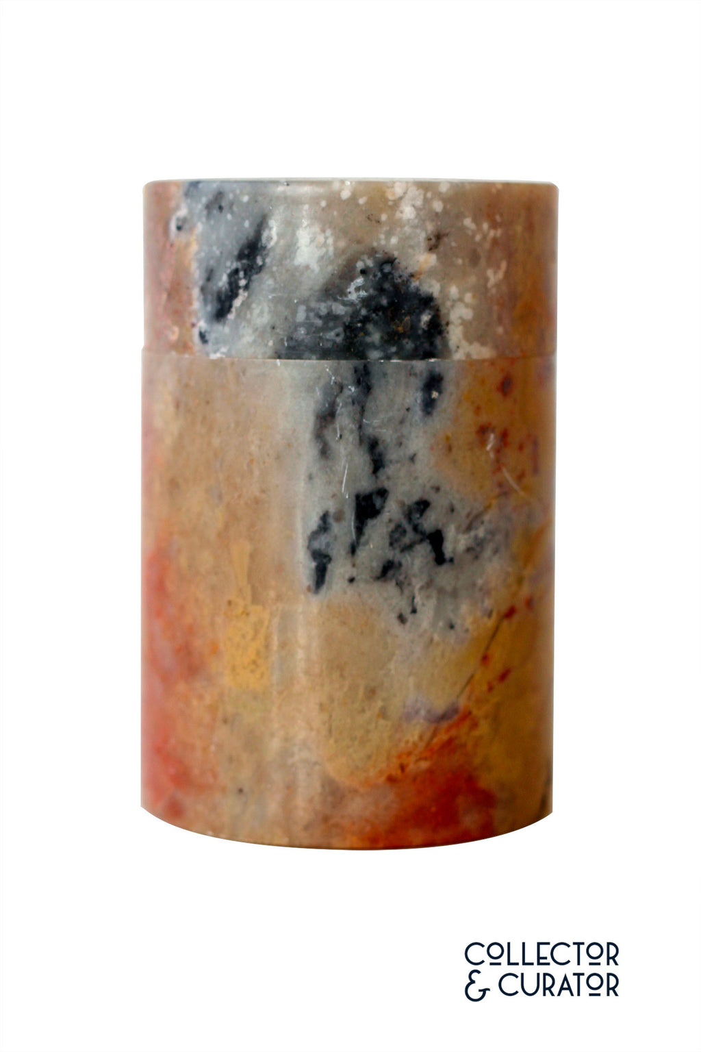 Red Marble Covered Jar - Collector & Curator