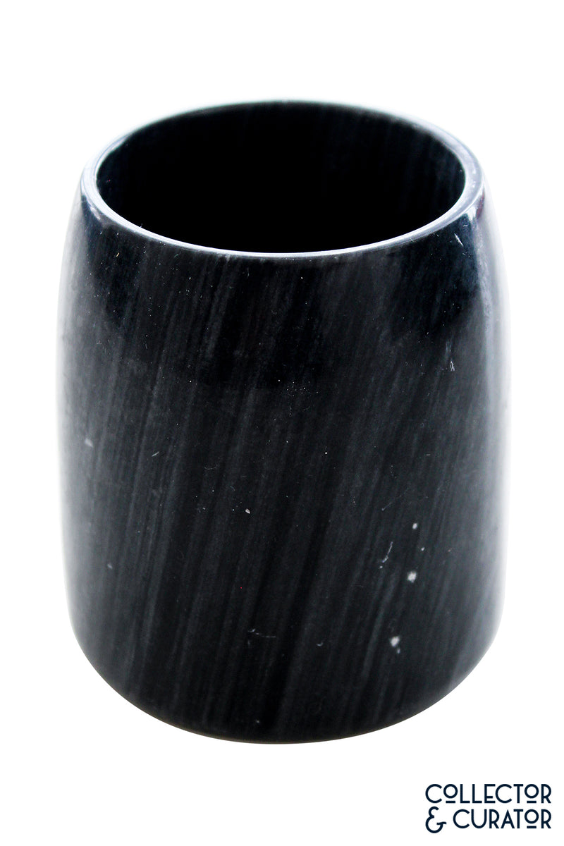 Smoky Blue Hourglass Shaped Vase