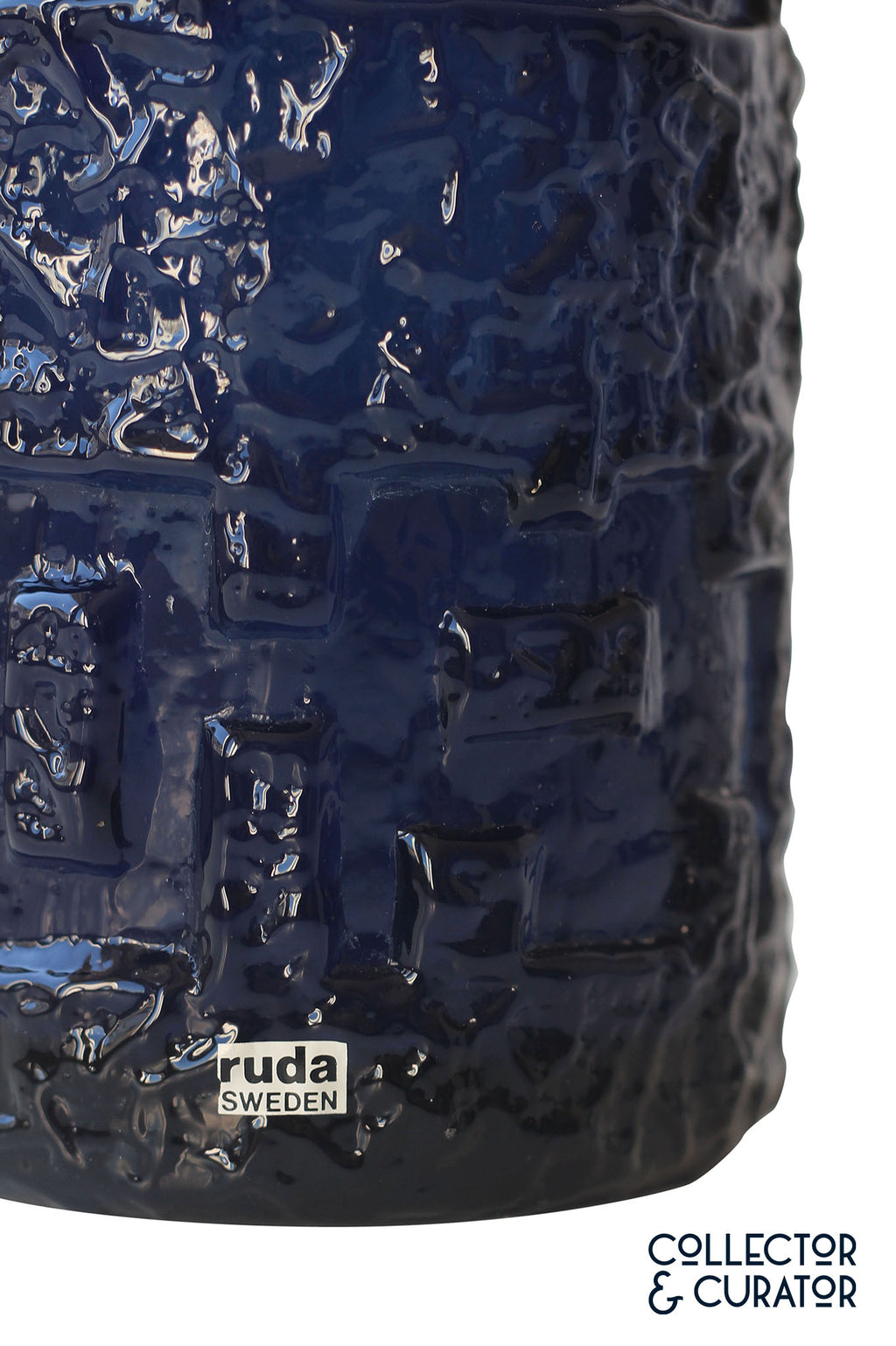 Ruda glass vase in cobalt blue by Göte Augustsson - Collector & Curator