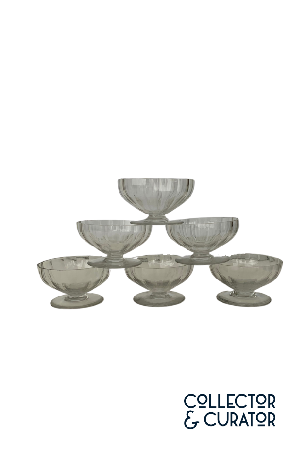 Set of Six Baccarat Dessert Coupes in Crystal
