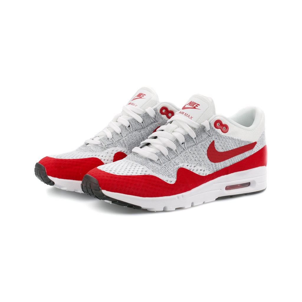 Nike - W Air Max 1 Ultra Flyknit (White University-Red Pure-Platinum) –  amongst few ea6494787