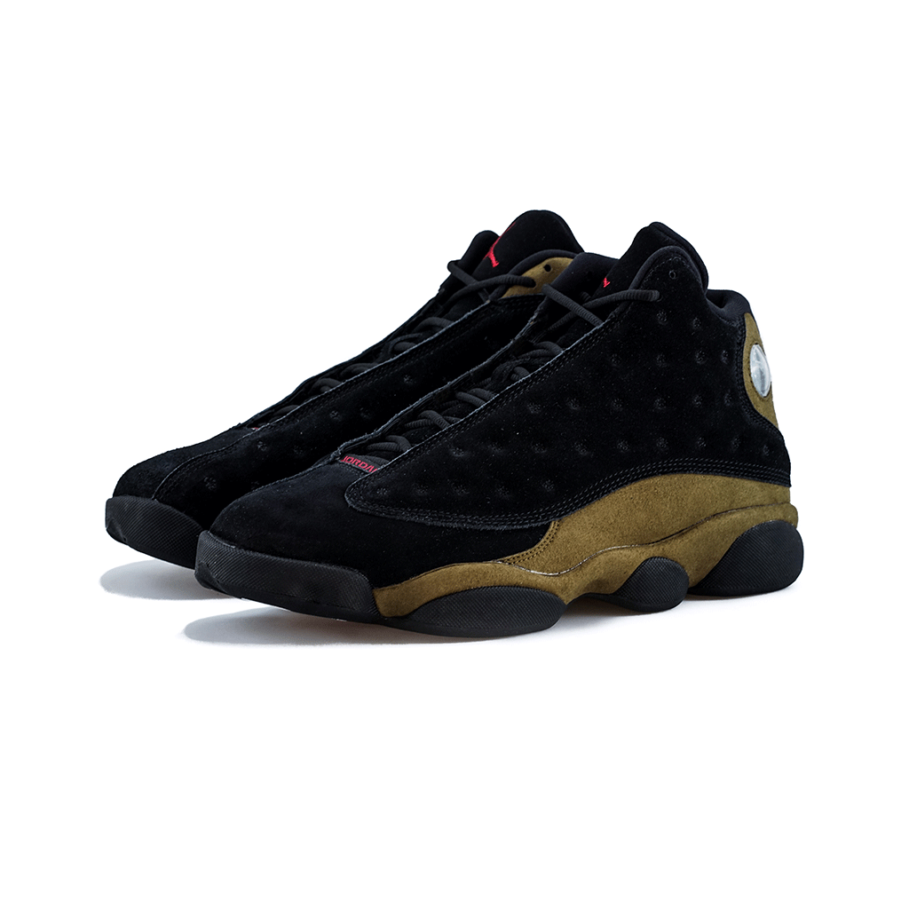 63528d761c0610 Air Jordan 13 Retro (Black Gym Red-Light Olive) – amongst few
