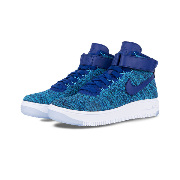 sports shoes 9505a 75be7 Nike - W AF1 Flyknit (Blue Lagoon/Deep Royal Blue)