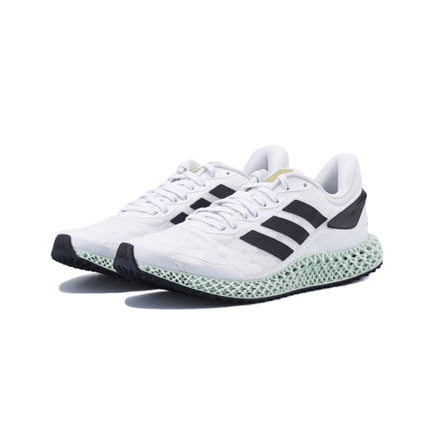adidas - 4D Run 1.0 (White/Core Black-Gold Metallic)