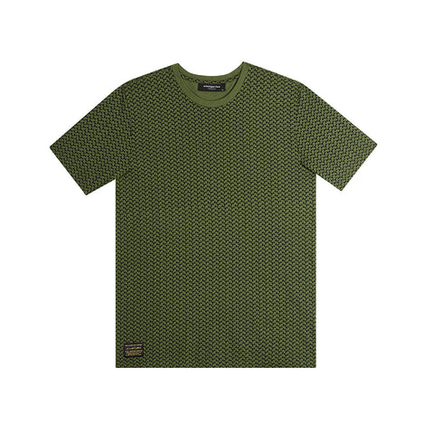 amongst few x SBTG - All Over T-Shirt (Olive)