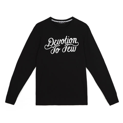 amongst few - Devotion To Few Long Sleeve T-Shirt (Black)