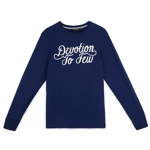 amongst few - Devotion To Few Long Sleeve T-Shirt (Navy)