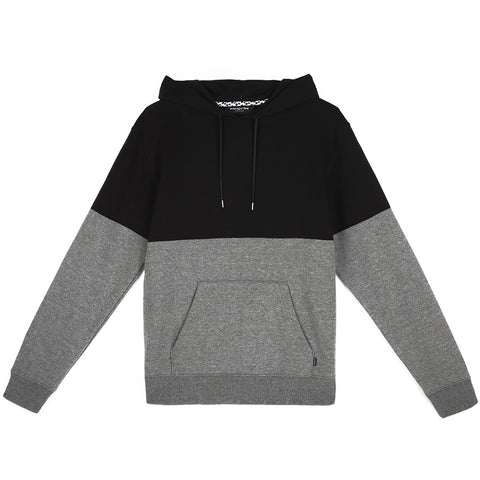 amongst few - Colour Block Hoodie (Charcoal/Black)