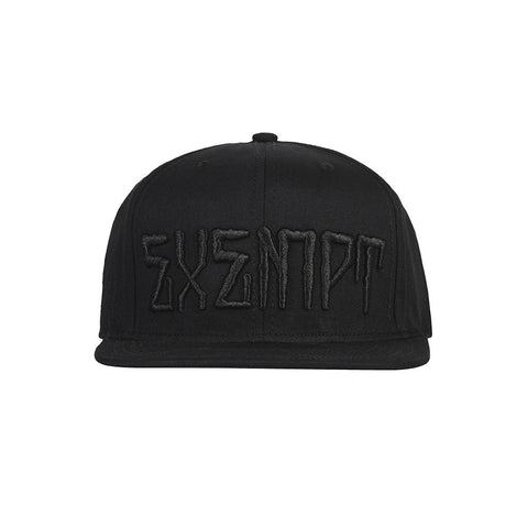 amongst few - Exempt Snapback (Black on Black)