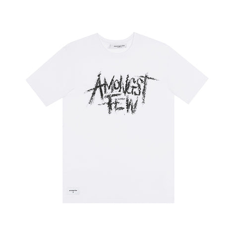 amongst few - Exaggerated Logo T-Shirt (White)