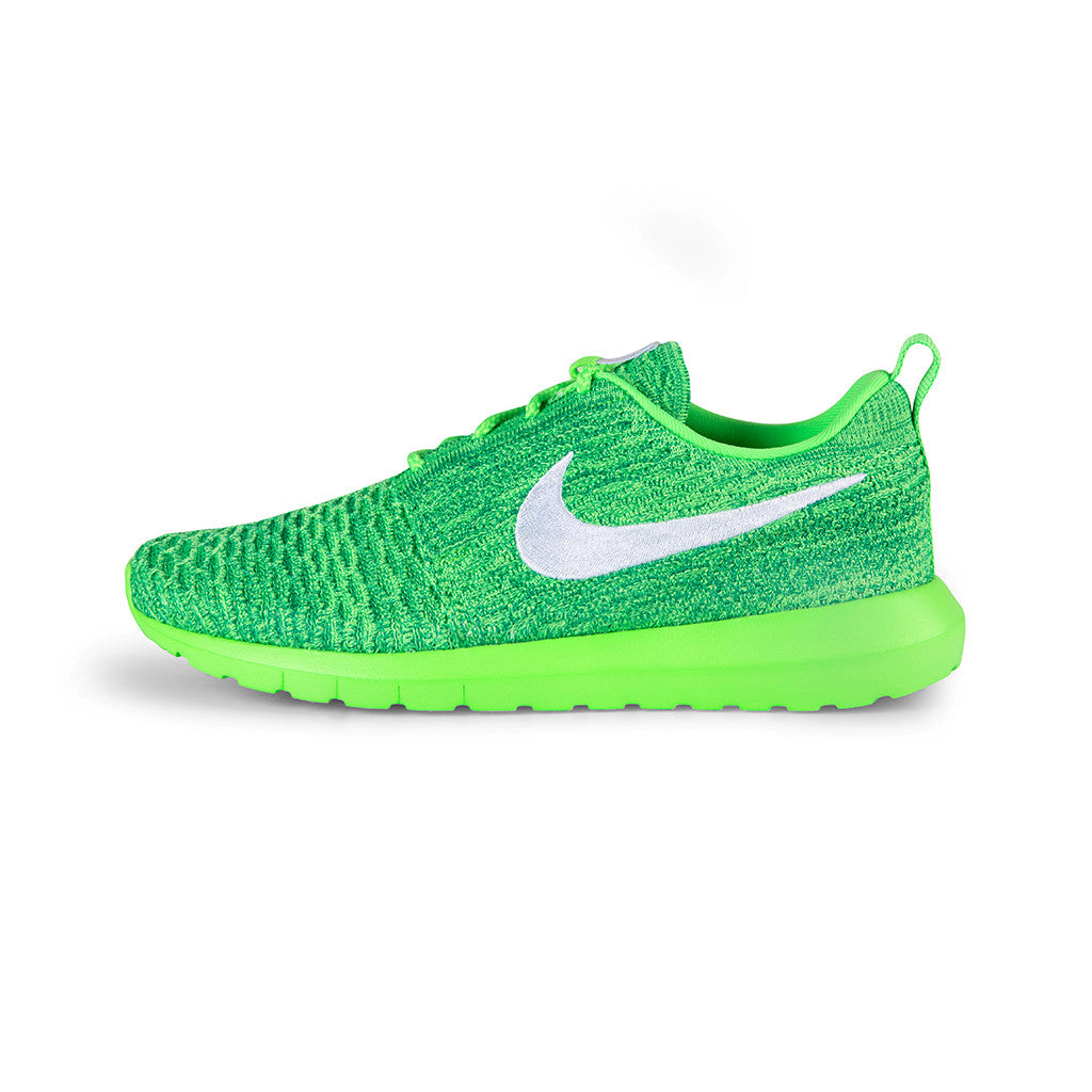 timeless design d9631 248b0 greece nike roshe run flyknit women pink blue green white 15199 db02c  ebay nike  roshe nm flyknit voltage green white lcd green f0cc9 a888d