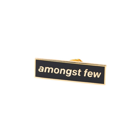 amongst few - Team Pin (Black/Gold)