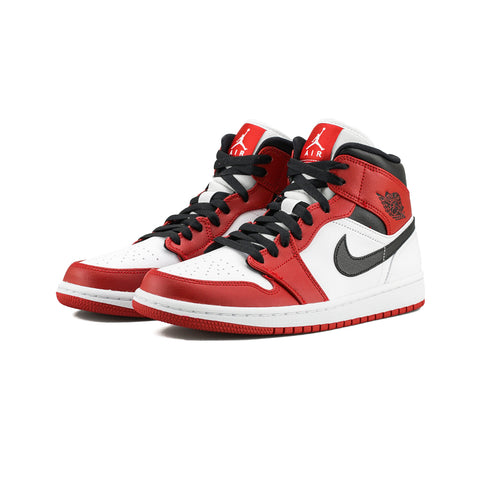 Air Jordan 1 Mid (White/Gym Red-Black)