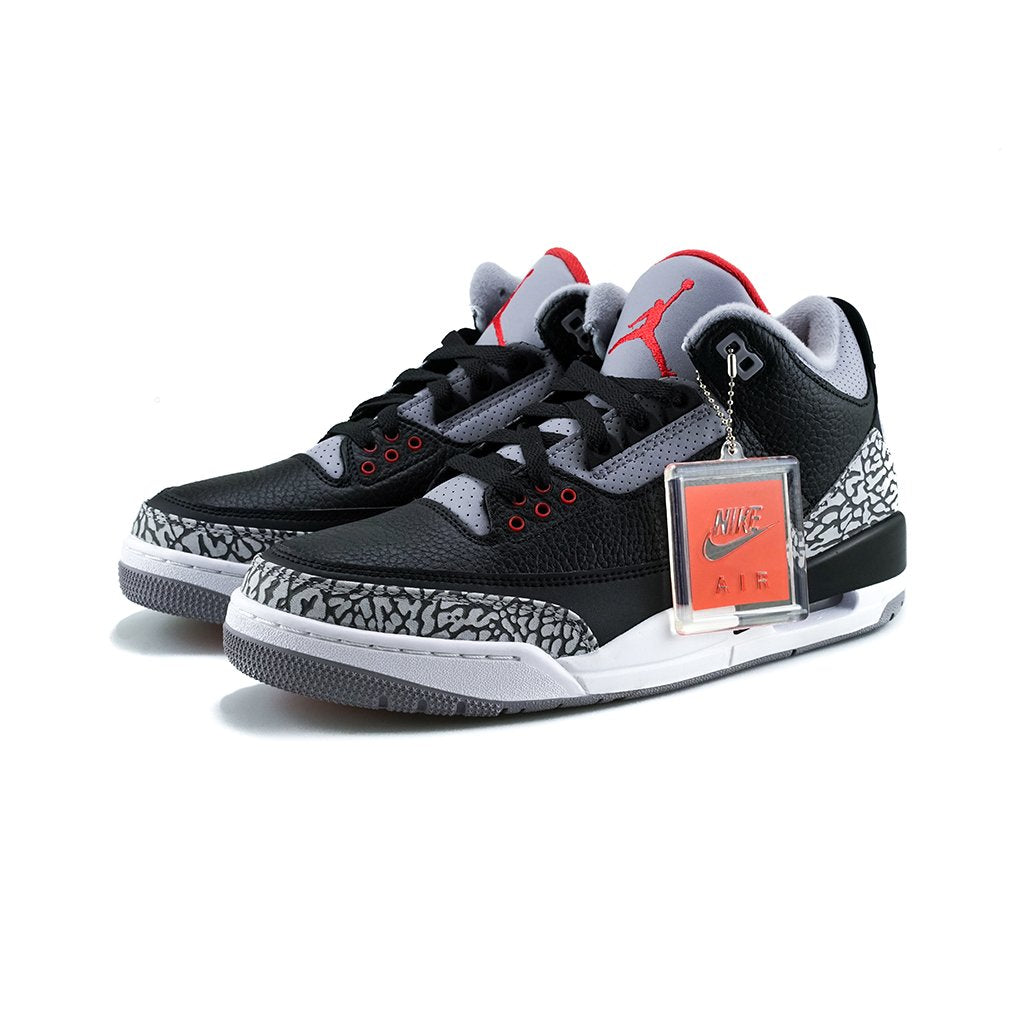 save off 47b2c 5721f Air Jordan 3 Retro OG (Black/Fire Red-Cement Grey)
