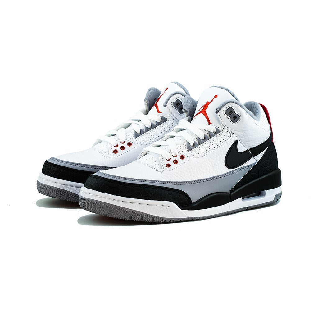 finest selection c6f6a 060c4 Air Jordan 3 Retro  Tinker  NRG (White Black-Fire Red Blanc Rouge Feu  –  amongst few