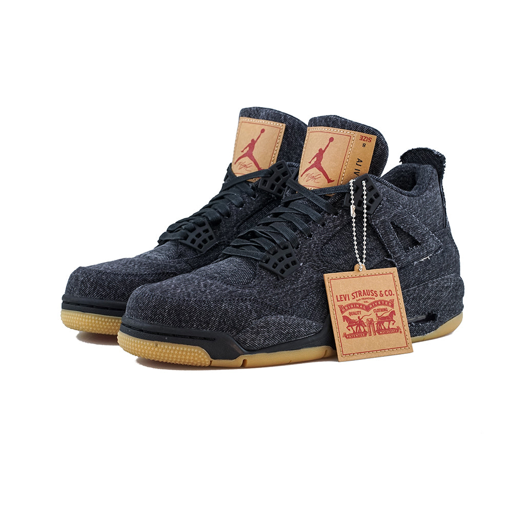 4b1dfa74cd74aa Air Jordan 4 Retro Levis NRG (Black Black Black) – amongst few