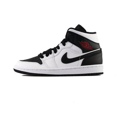 WMNS Air Jordan 1 Mid (White/Gym Red-Black)