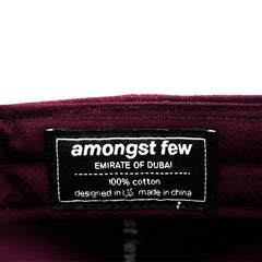 amongst few - Arabic Outline Logo Sports Cap (Burgundy)