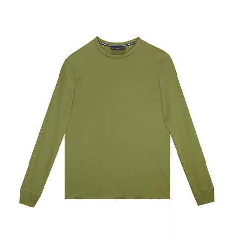 amongst few - Classic Pique Long Sleeve T-Shirt (Olive)