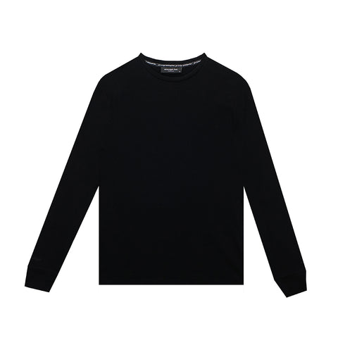 amongst few - Classic Pique Long Sleeve T-Shirt (Black)
