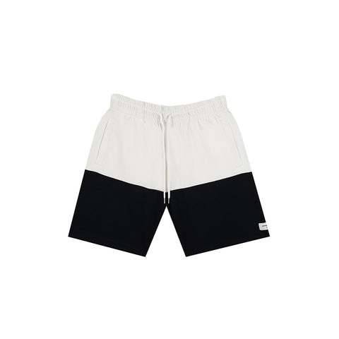 amongst few - Colour Block Shorts (White/Black)