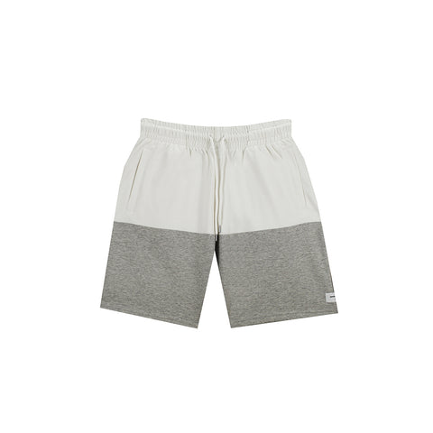amongst few - Colour Block Shorts (White/Grey)