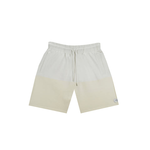 amongst few - Colour Block Shorts (White/Off White)