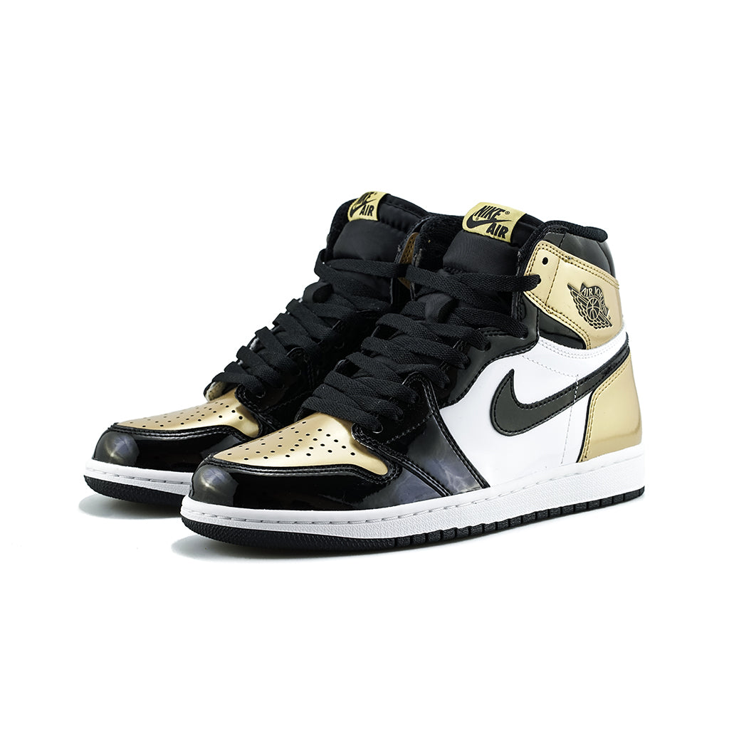 4e4134842a91 Air Jordan 1 Retro High OG  Gold Toe  NRG (Black Black-Metallic Gold) –  amongst few