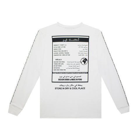 amongst few - General Trading Long Sleeve T-Shirt (White)