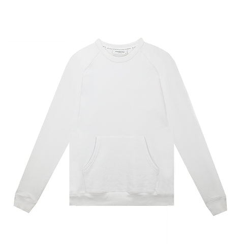 amongst few - Kangaroo Pocket Sweater (White)
