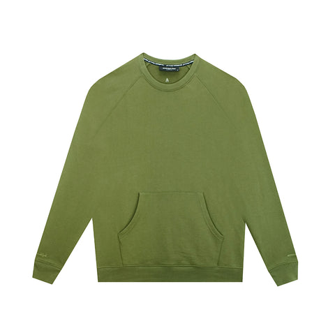 amongst few- Kangaroo Pocket Sweater (Olive)