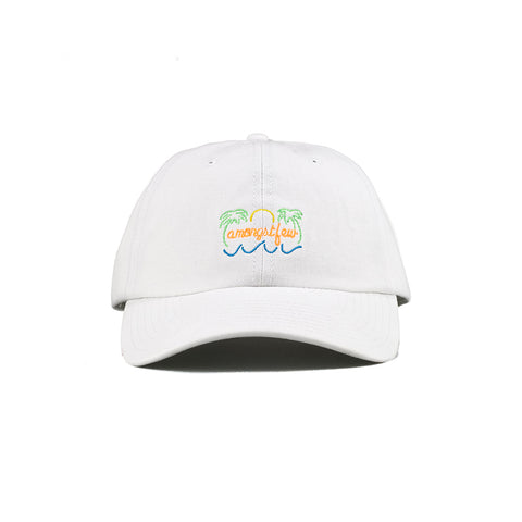 amongst few - Neon Sign Dad Cap (White)