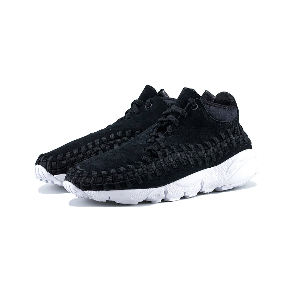 the latest e2aa1 dd518 Nike - Air Footscape Woven Chukka (Black/Black-White) – amongst few