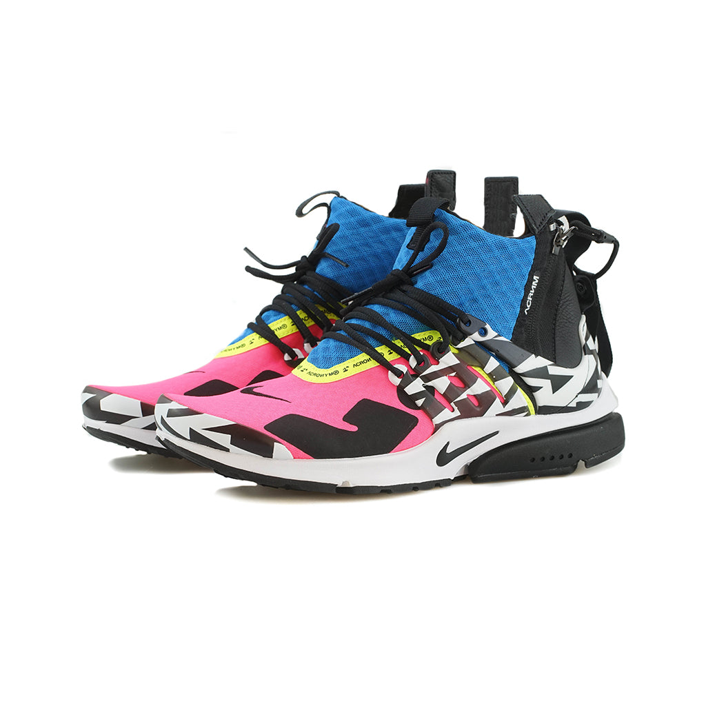 2f2227ea7bf Nike - Air Presto Mid   ACRONYM (Racer Pink Black-Photo Blue) – amongst few
