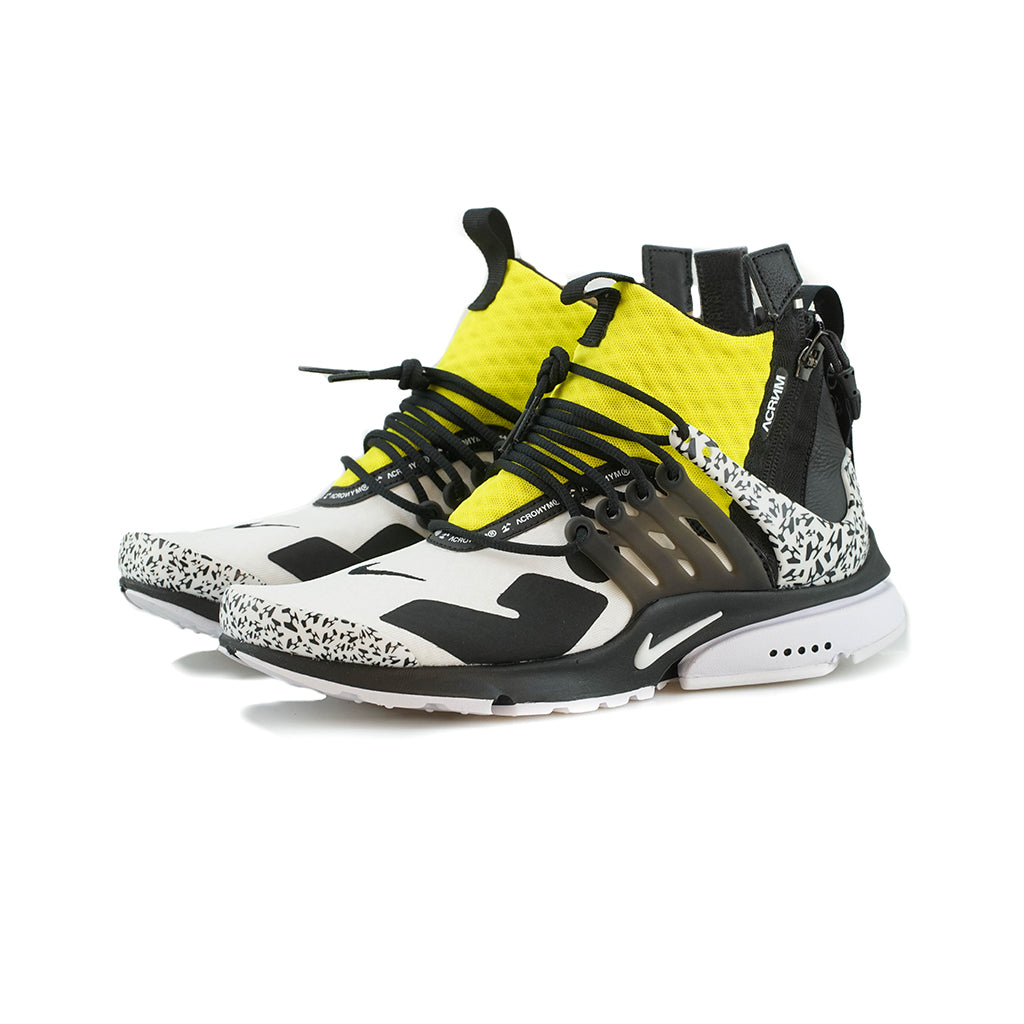 new style 81340 e7222 Nike - Air Presto Mid  ACRONYM (WhiteBlack-Dynamic Yellow) – amongst few