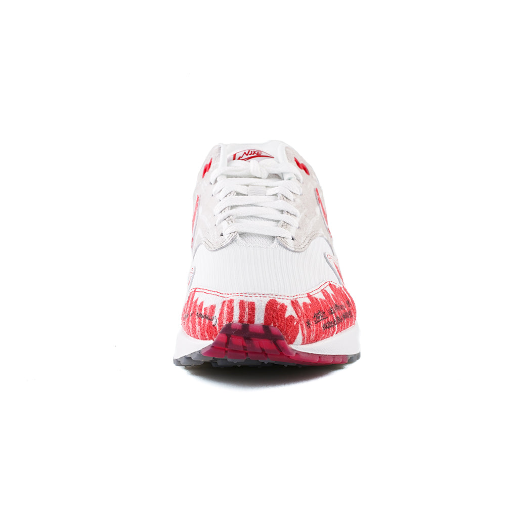 """Nike Air Max 1 """"Sketch To Shelf"""" WhiteUniversity Red For"""