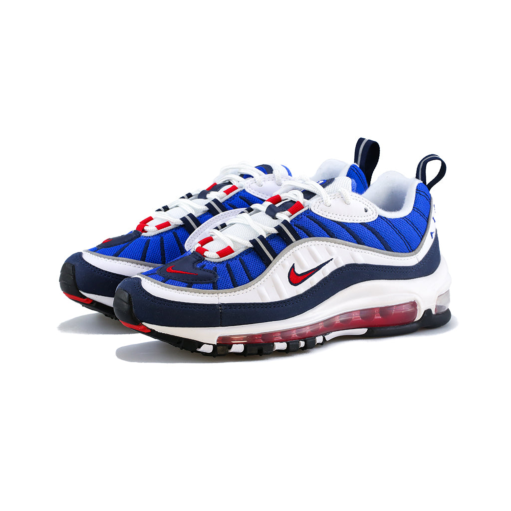 Nike - W Air Max 98 (White/University Red-Obsidian)