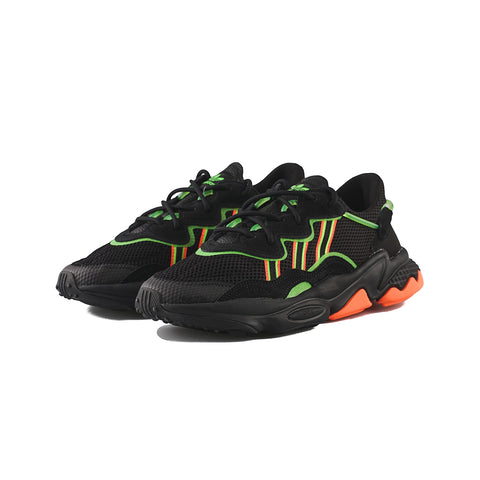 adidas Originals - Ozweego (Core Black/Solar Green/Hi-Res Coral)