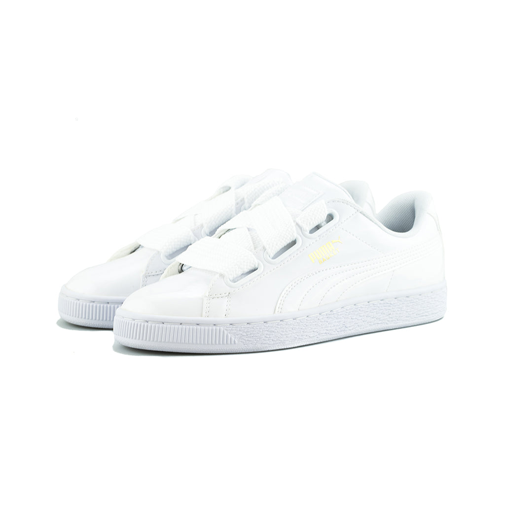 the latest 93d6e a9db4 PUMA - Basket Heart Patent Wn's (Puma White-Puma White)