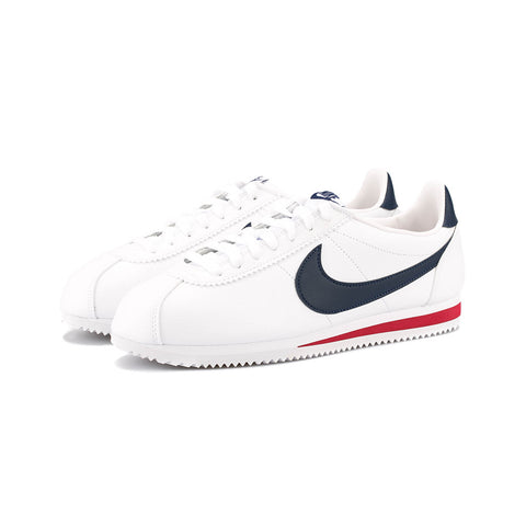 Nike - Classic Cortez Leather (White/Midnight Navy-Gym Red)