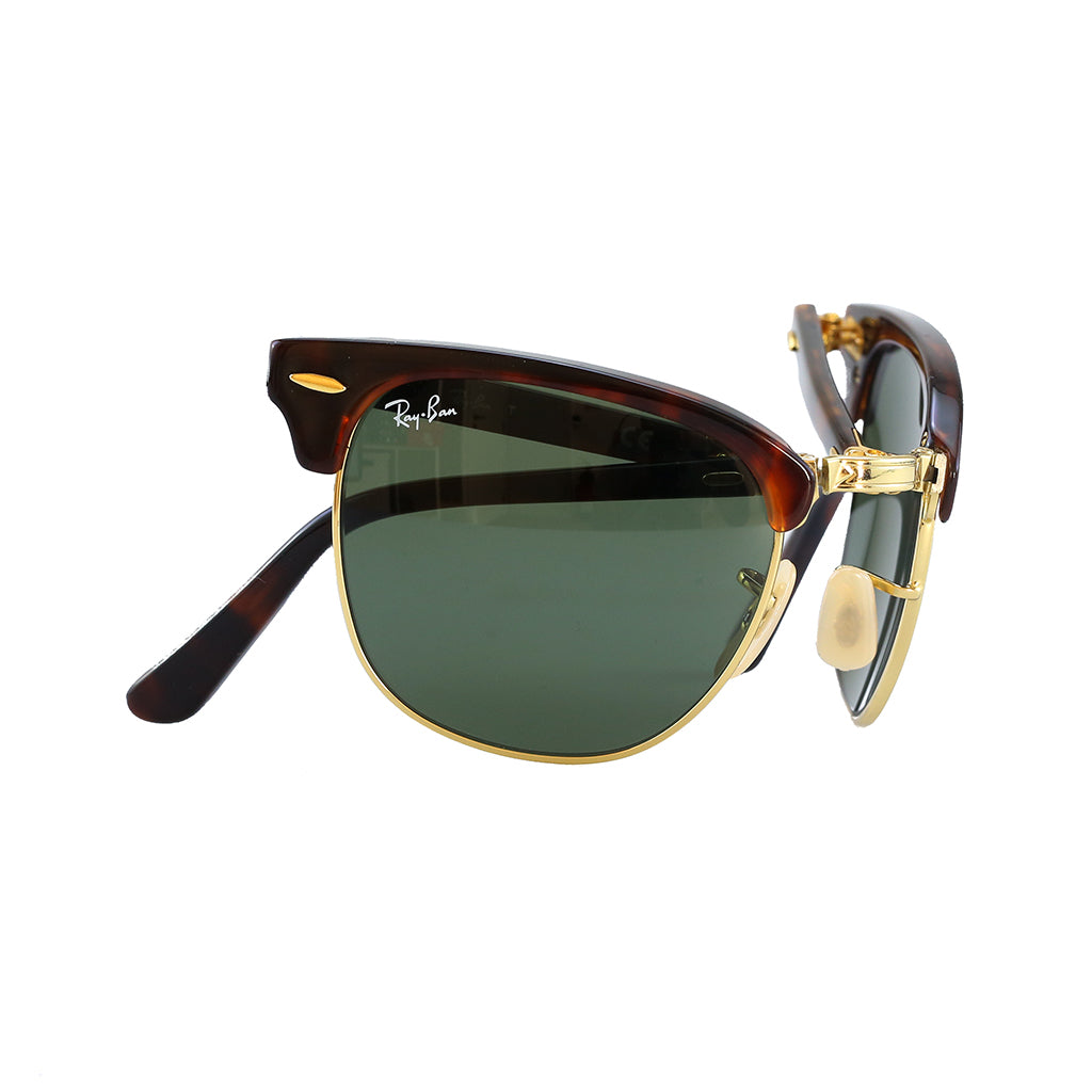 47213bb416 Ray-Ban - Clubmaster Folding (Tortoise Green Classic G-15) – amongst few