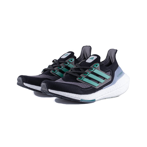 adidas - Ultraboost 21 (Core Black/Sub Green/Grey Five)