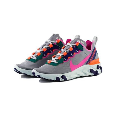 Nike - W React Element 55 (Wolf Grey/Laser Fuchsia)